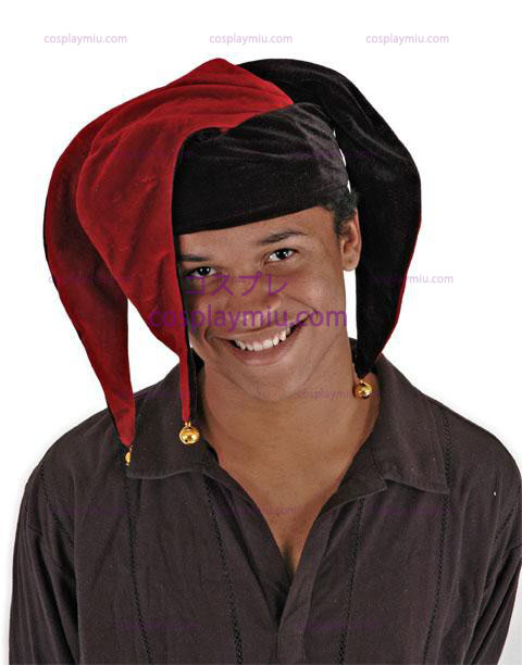 96183060c21 Floppy Jester Red and Black Adult Hat - AU 19.95