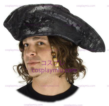 Old Pirate Black Adult Hat
