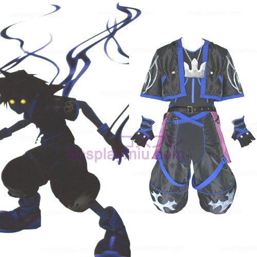 Kingdom Hearts 2 Anti Sora Men Cosplay Costume