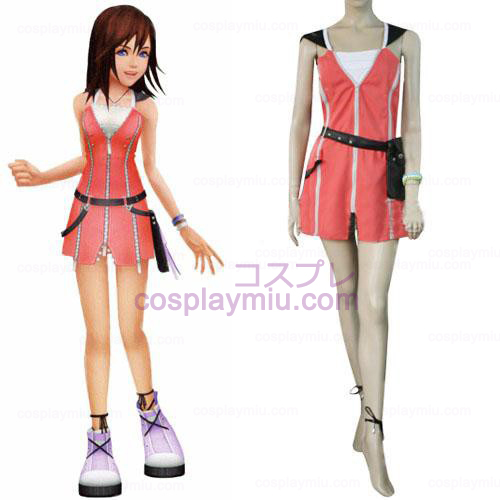 Kingdom Hearts 2 Kairi Pink Dress Cosplay Costume