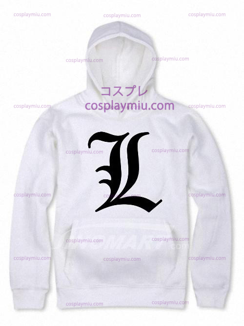 White Death Note Cotton Polyester Man's Hoodie
