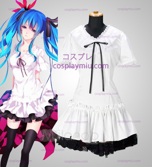 Vocaloid Miku White Cosplay Costume Dress