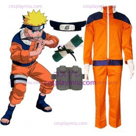 Naruto Uzumaki Cosplay Costume and Accessories Set
