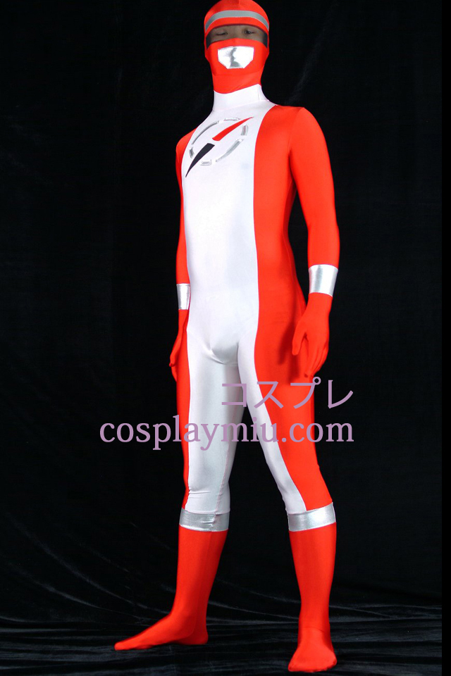 Operation Overdrive Red Ranger Lycra Spandex Superhero Zentai Suit