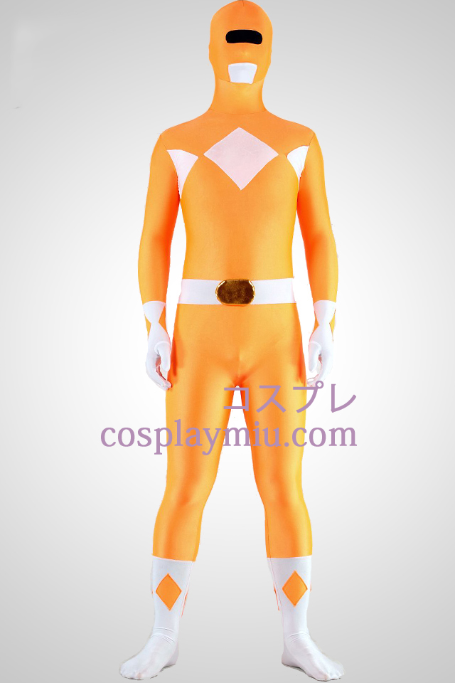 Mighty zentaiin Yellow Ranger Lycra Spandex Superhero Zentai Suit