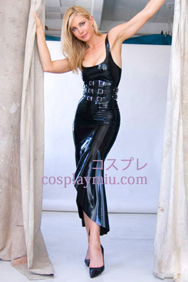 Black Sexy Latex Dress