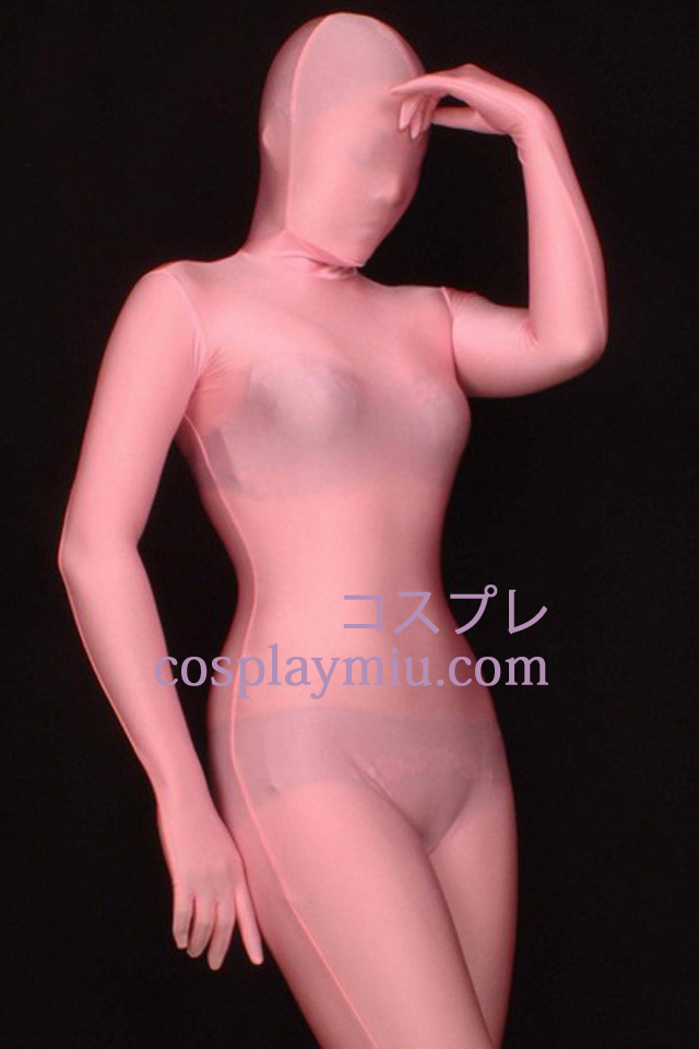 Pink Full Body Lycra Spandex Zentai Suit
