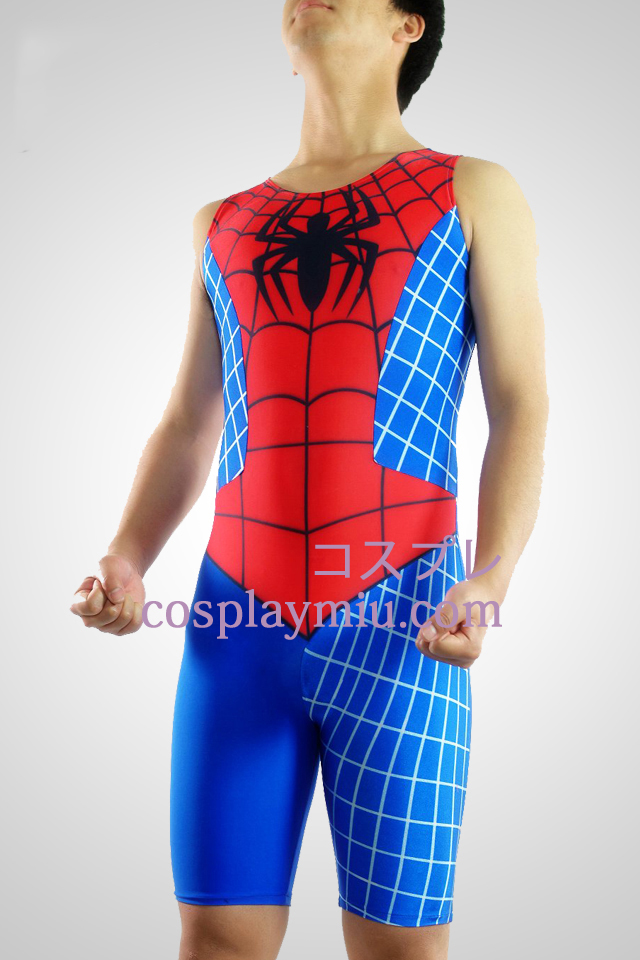 Spideman Lycra Sleeveless Gymnasium Suit
