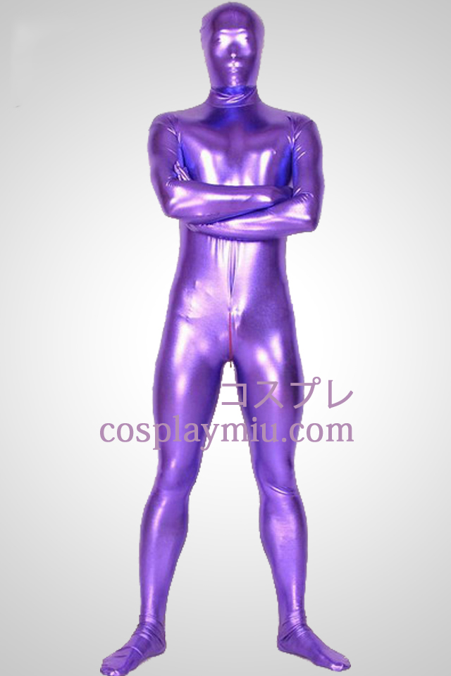 Purple Shiny Metallic Unisex Zentai Suit
