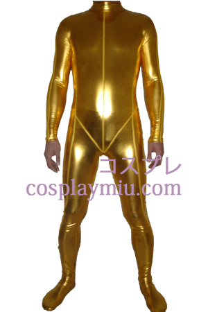 Gold Shiny Metallic Zentai Suit