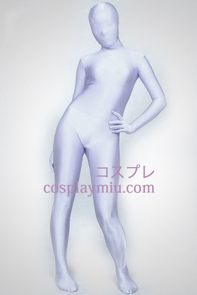 Silver Gray Full Body Lycra Spandex Zentai Suit