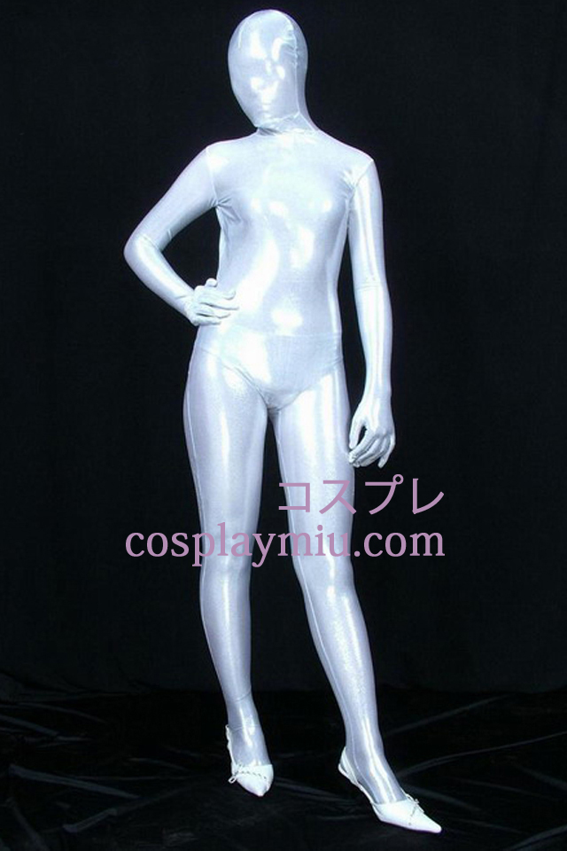 White PVC Full Body Zentai