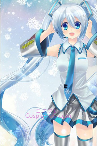 Vocaloid Long Snow Cosplay Wig