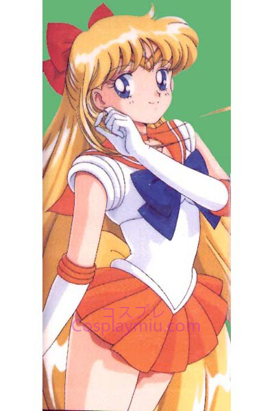 Sailor Moon Aino Minako Sailor Venus Long Cosplay Wig